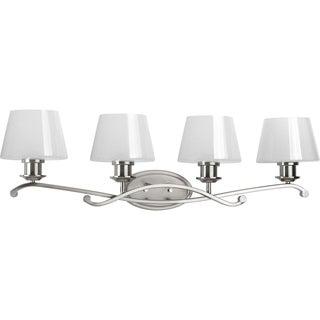 Progress Lighting Dazzle Silver Steel 4-light Vanity Bathroom Light