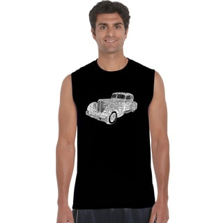 Los Angeles Pop Art Men's 'Mobsters' Blue Black or Grey Cotton Crewneck Sleeveless T-Shirt