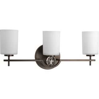 Progress Lighting P2048-20 Compass Steel 3-light Bath Light