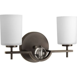 Progress Lighting Compass Bronze Steel 2-light Bath Bracket Light