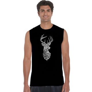 Men's SXDEER Cotton Types of Deer Sleeveless T-shirt