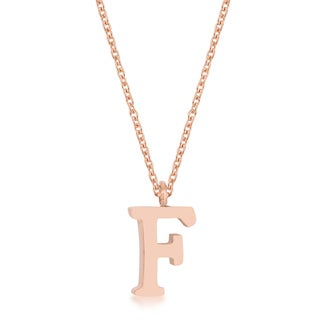 Kate Bissett Elaina Rose Goldplated Stainless Steel Initial 'F' Necklace