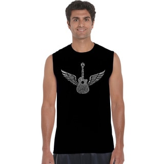 Men's Amazing Grace Black Cotton Sleeveless T-shirt