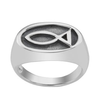 Haven Park Oval Ichthus Ring