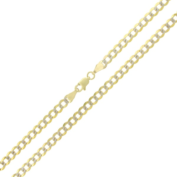 dc35caa5534a9 Shop 10k Yellow Gold 3.5mm Solid Cuban Curb Necklace - Free Shipping ...