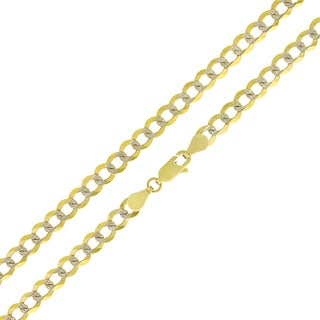 10k Yellow Gold 4.5mm Solid Cuban Curb Link Chain Necklace