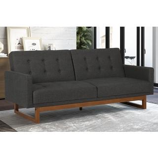 Avenue Greene Coral Cables Grey Linen Futon