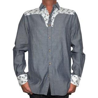 Rock Roll N Soul Men's 'Stars of the west' Western Woven Shirt