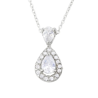 Haven Park Cubic Zirconia Drop Pendant Necklace