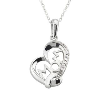 "Haven Park ""Mom"" Heart Shaped Pendant Necklace