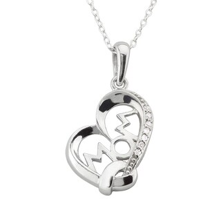"Haven Park ""Mom"" Heart Shaped Pendant Necklace"