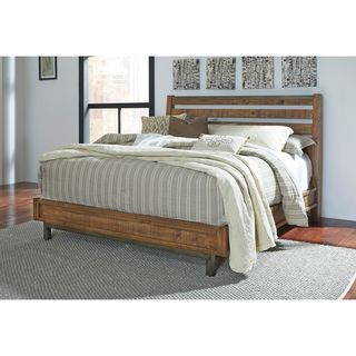 Signature Design by Ashley Dondie Warm Brown Platform Bed