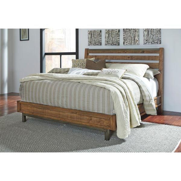 signature design by ashley dondie warm brown platform bed