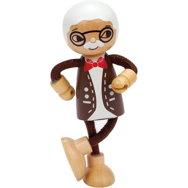 Hape 'Modern Family' Wooden Grandfather Doll
