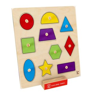 Hape Geometric Shapes Knob Puzzle