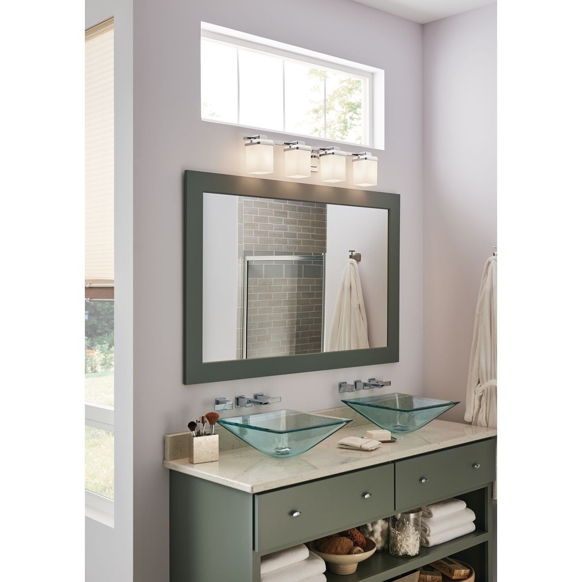 Progress Lighting Metric Collection 3Light Polished Chrome Bathroom Vanity Light