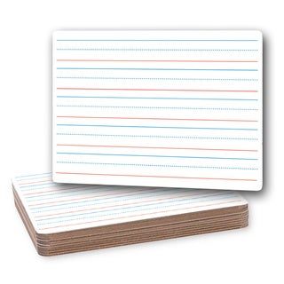 Flipside Red/Blue Ruled/Plain 9-inch by 12-inch Two-sided Dry-erase Board (Pack of 12)