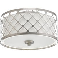 Progress Lighting P2330-0930K9 Mingle Grey Steel LED Flush Mount Light