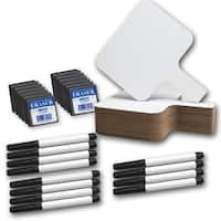 Rectangular 8 x 9.75 x 0.25-inch Dry Erase Answer Paddle Set (Pack of 12)