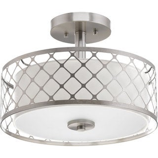 Progress Lighting P2332-0930K9 Mingle Nickel Steel and Metal LED Semi-flush Mount
