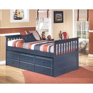 Signature Design by Ashley Lulu Blue Twin Trundle Bed
