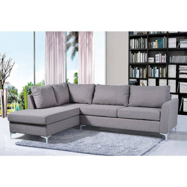 Landon Reversible Linen Sectional Grey Color by Nathaniel Home