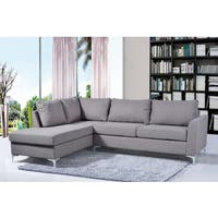 Porch & Den Bay View Marys Reversible Grey Linen Sectional