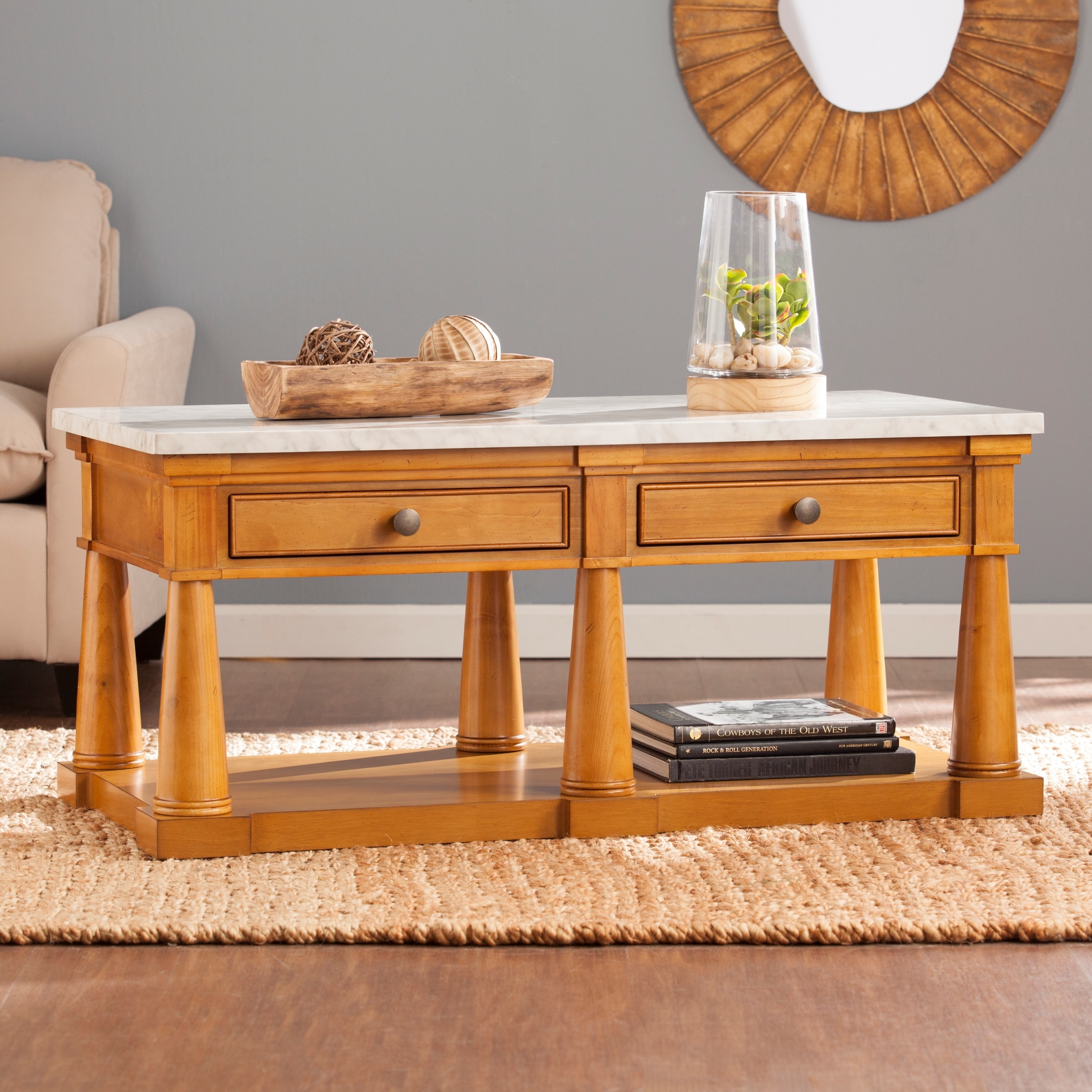 Harper Blvd Gannon Faux Marble Coffee/ Cocktail Table (OS...