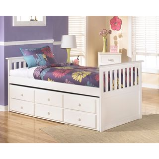 Signature Design by Ashley Lulu White Twin Trundle Bed