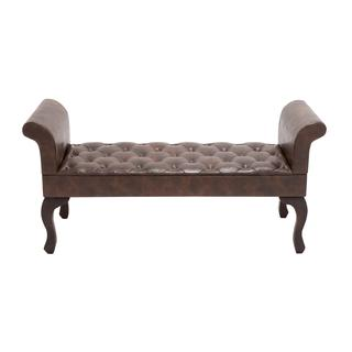 The Gorgeous Wood Leather Bench