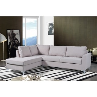 Landon Reversible Linen Sectional Beige Color by Nathaniel Home - Thumbnail 0
