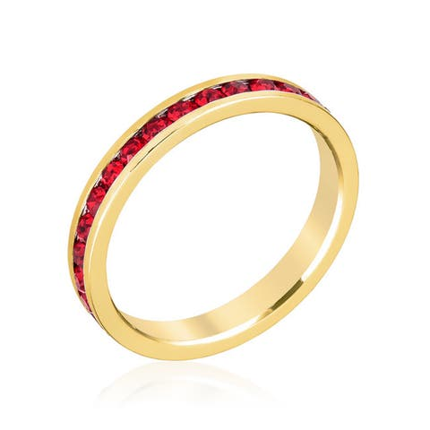 Kate Bissett Stylish Stackables Ruby Red Gold Ring