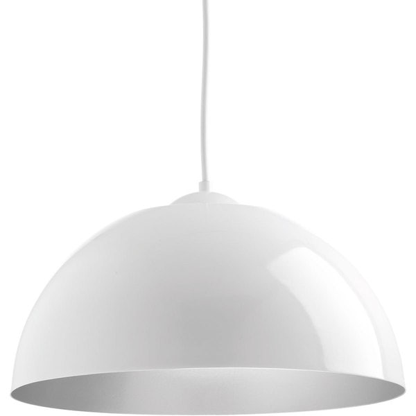 Progress Lighting P5341-3030K9 Dome One-light White Pendant