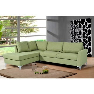 Porch & Den Bay View Marys Reversible Green Linen Sectional
