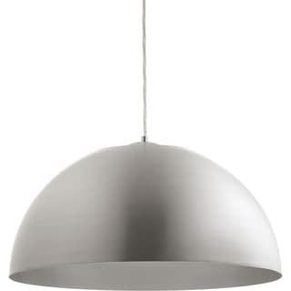 Progress Lighting P5342-1630K9 Satin Aluminum-finish Steel LED Dome 1-Light Pendant