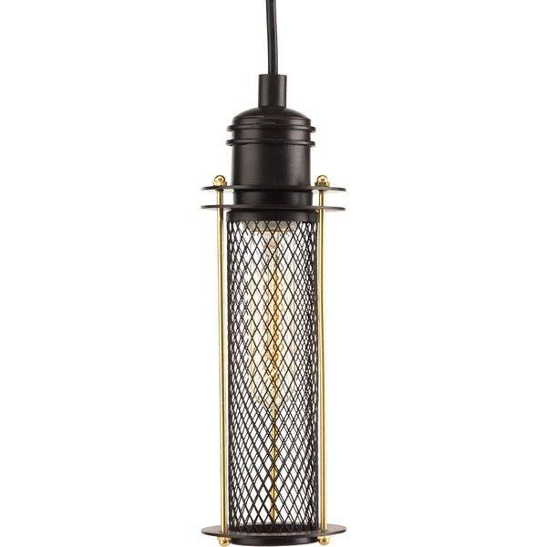 Progress Lighting Bronze Metal, Steel Industrial One-light Mini Pendant Fixture