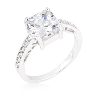 Kate Bissett Princess White Brass Clear Cubic Zirconia Ring