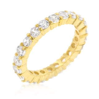 Kate Bissett Jessica Goldtone Brass Cubic Zirconia Band
