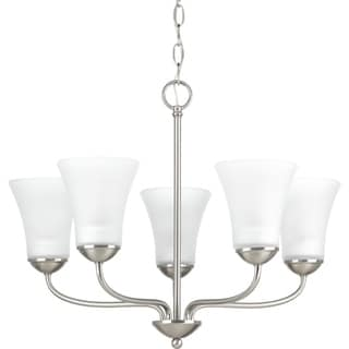 Progress Lighting Classic Silver Metal, Steel, Etched Glass Five-light Chandelier