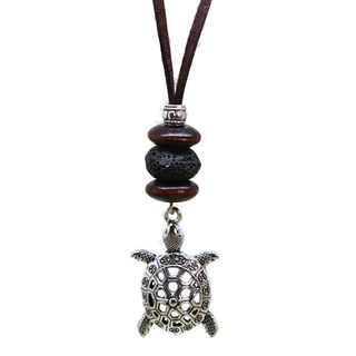 'Turtle' Boys Leather Essential Oil Diffuser Necklace