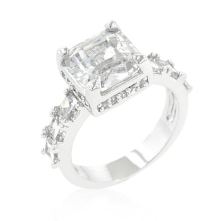 Kate Bissett Cubic Zirconia Asscher-cut Engagement Ring