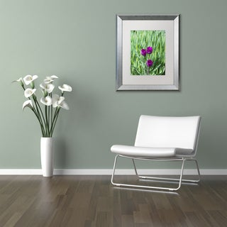 Kurt Shaffer 'Healing Tulips' Matted Framed Art