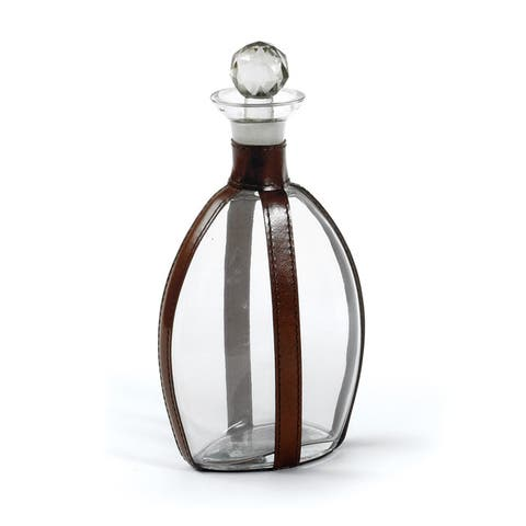 Brown and Clear Braxton Decanter with Air-tight Lid