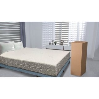 double layed 10inch short queensize memory foam mattress - Short Queen Mattress
