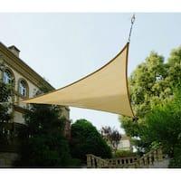 Cool Area Triangle Multicolor Plastic 9-foot 10-inch UV Block Sun Shade Sail