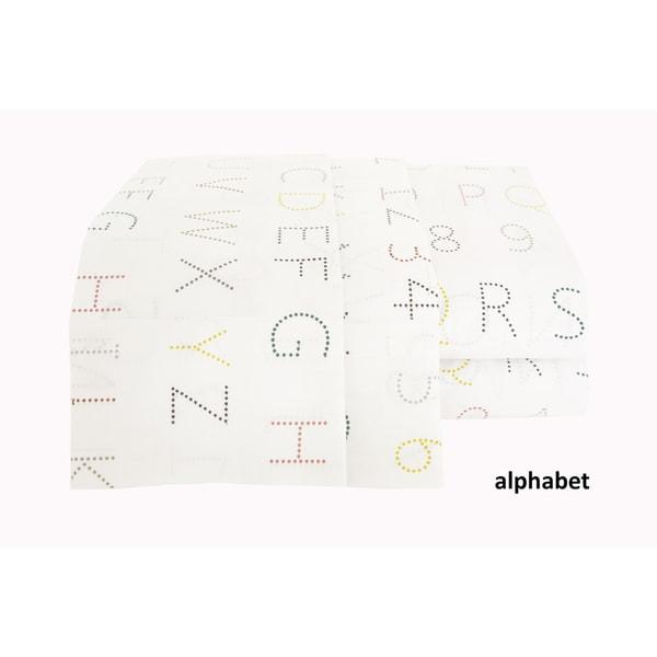Sheet Set-200 Thread Count Cotton sheet Set / Printed/ Alphabet