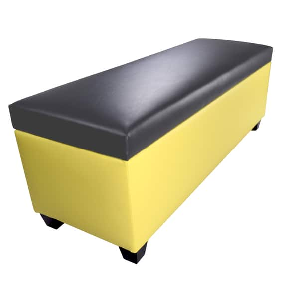 Groovy Shop The Sole Secret Retro Yellow Vinyl Shoe Storage Bench Gmtry Best Dining Table And Chair Ideas Images Gmtryco