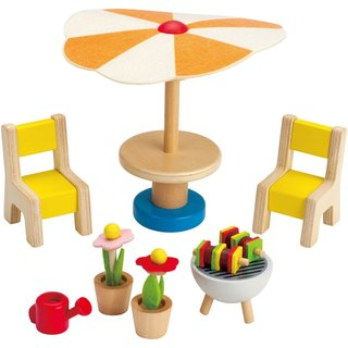 HaPe Happy Family Doll House Patio Furniture Set