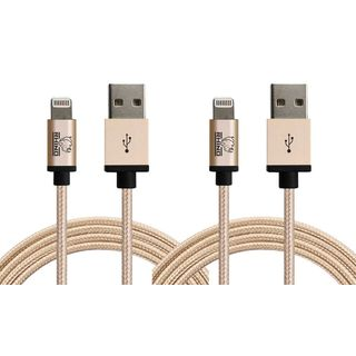 Rhino 10-foot/3-meter Sync/Charge Apple MFI Certified Multicolor Lightning Cable for iPhone 5/5s/5c/6/6s/6 Plus/6s Plus- 2PK