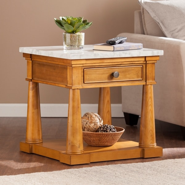 Shop Harper Blvd Gannon Faux Marble Side End Table Free Shipping